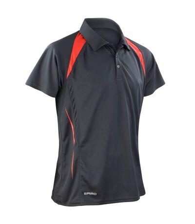 Spiro Mens Sports Team Spirit Performance Polo Shirt (Grey/Lime) - UTRW1470
