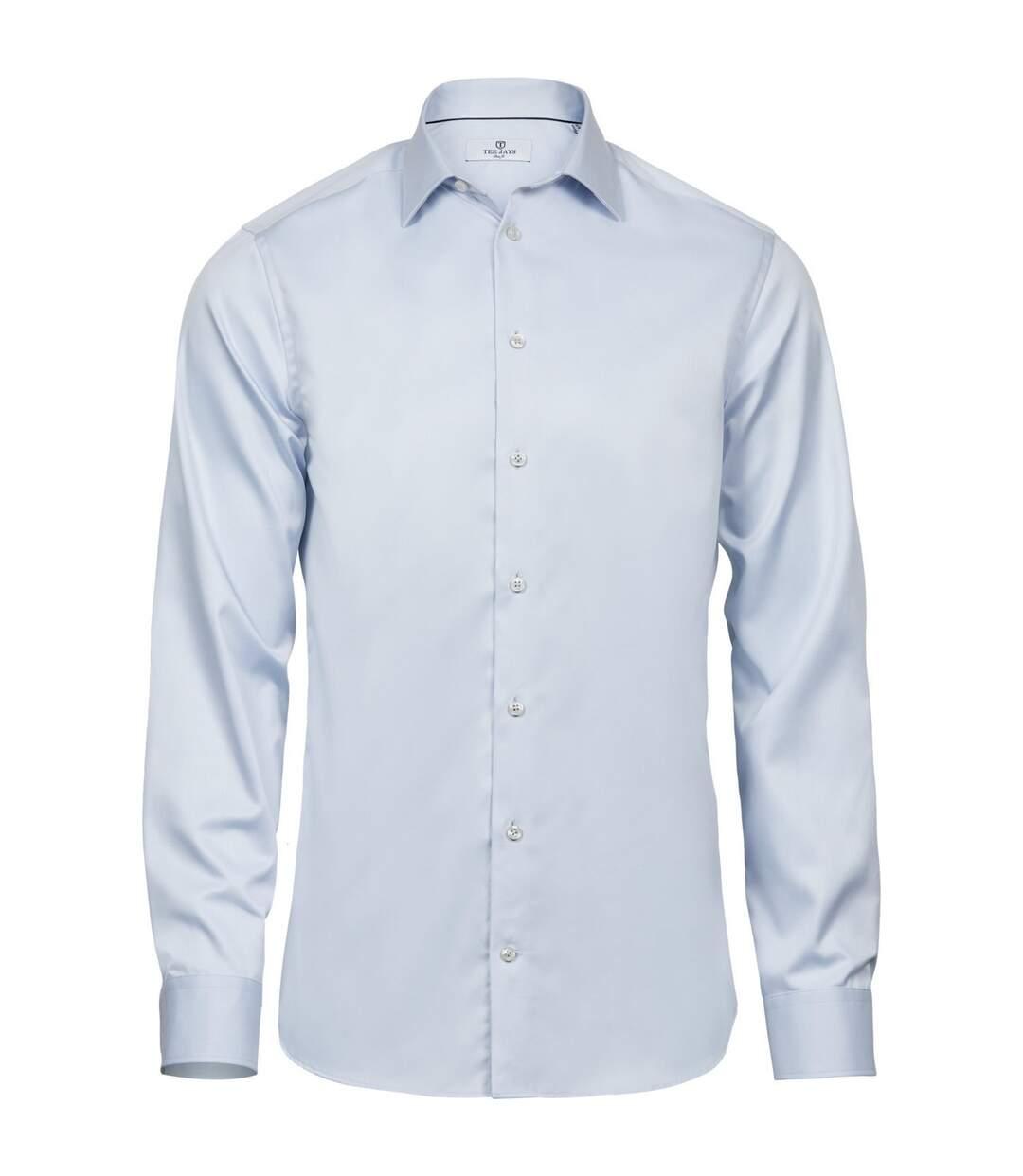 Tee Jays Mens Luxury Slim Fit Long Sleeve Oxford Shirt (Light Blue) - UTPC3485