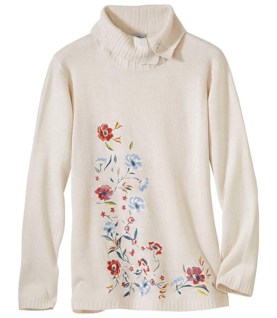 Pullover Herbstblüten im Tunika-Stil