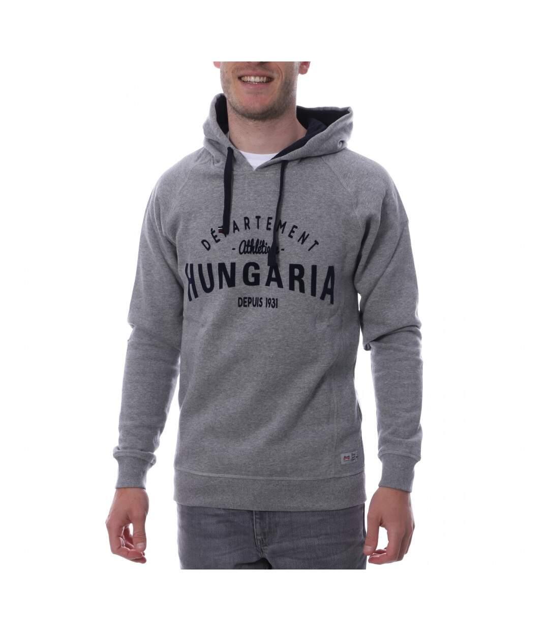Sweat à capuche gris homme Hungaria Sport Style