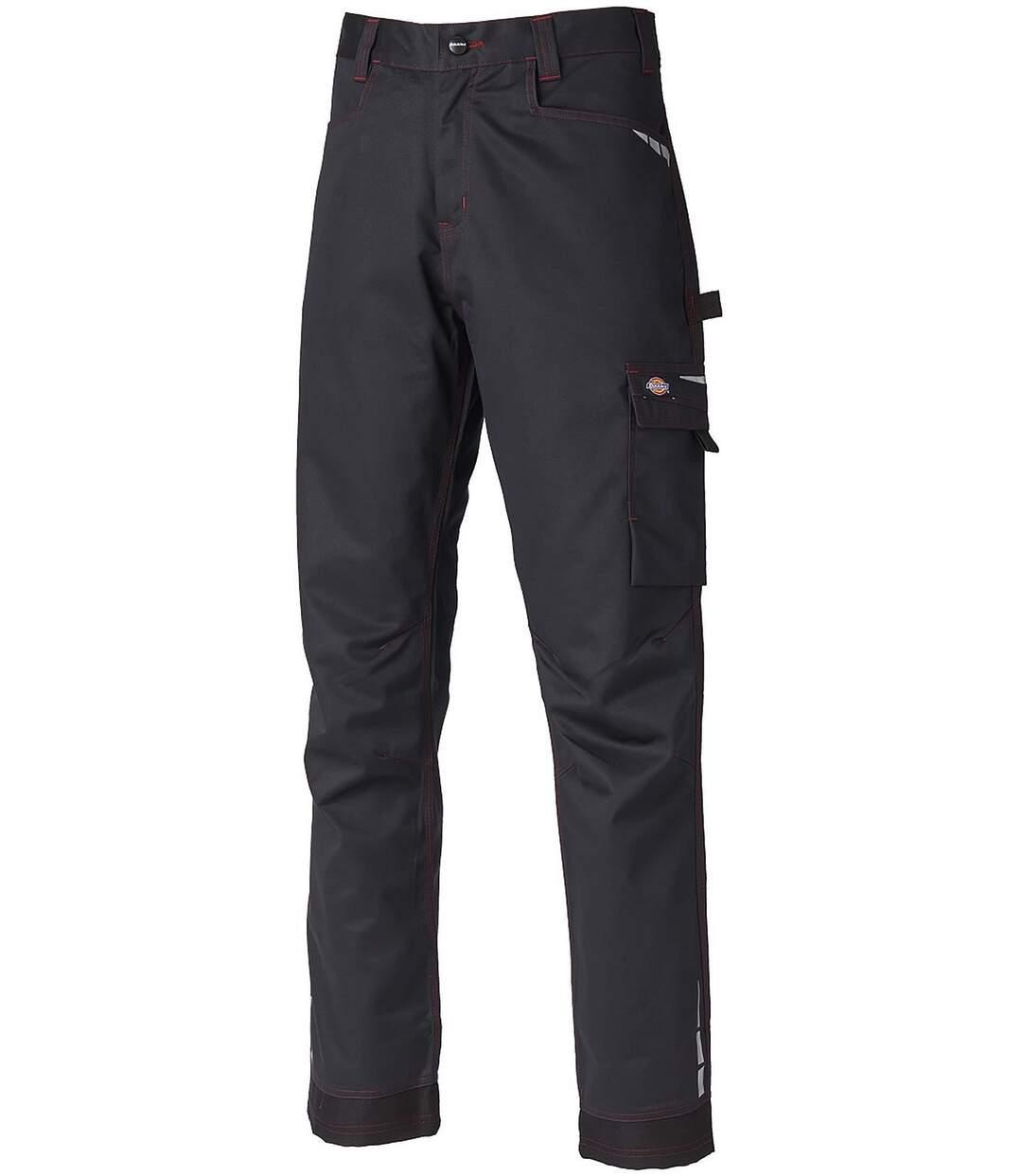 Pantalon de travail homme - DCV1000R - noir coutures rouges