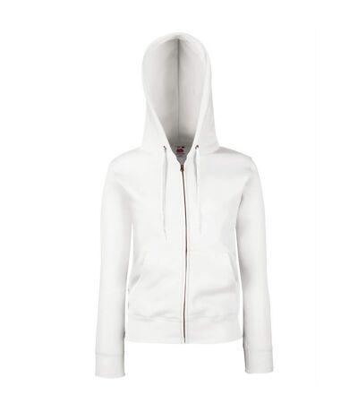 Fruit Of The Loom - Sweatshirt à capuche et fermeture zippée - Femme (Blanc) - UTBC1372