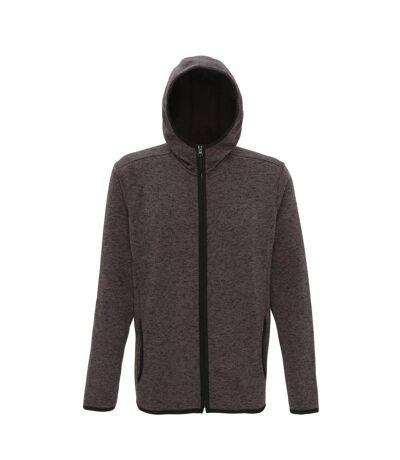 Tri Dri Mens Melange Knit Fleece Jacket (Charcoal/Black Fleck) - UTRW5459