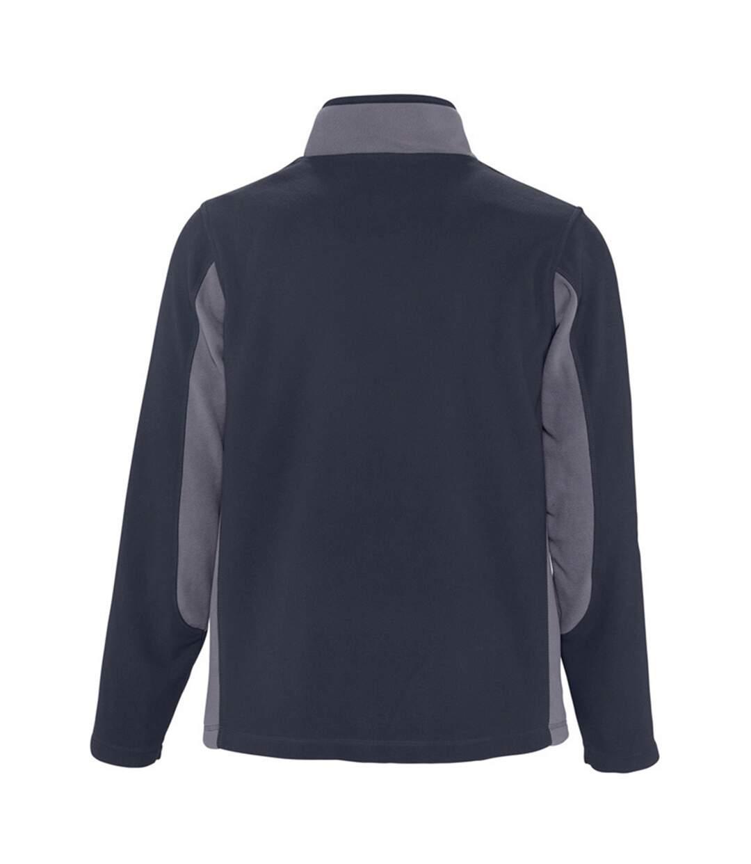 SOLS Mens Nordic Full Zip Contrast Fleece Jacket (Navy/Medium Grey) - UTPC409
