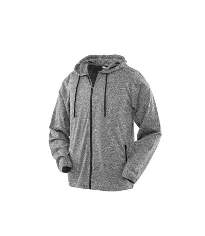 Spiro Mens Hooded T-Shirt Jacket (Marl Grey) - UTPC3645