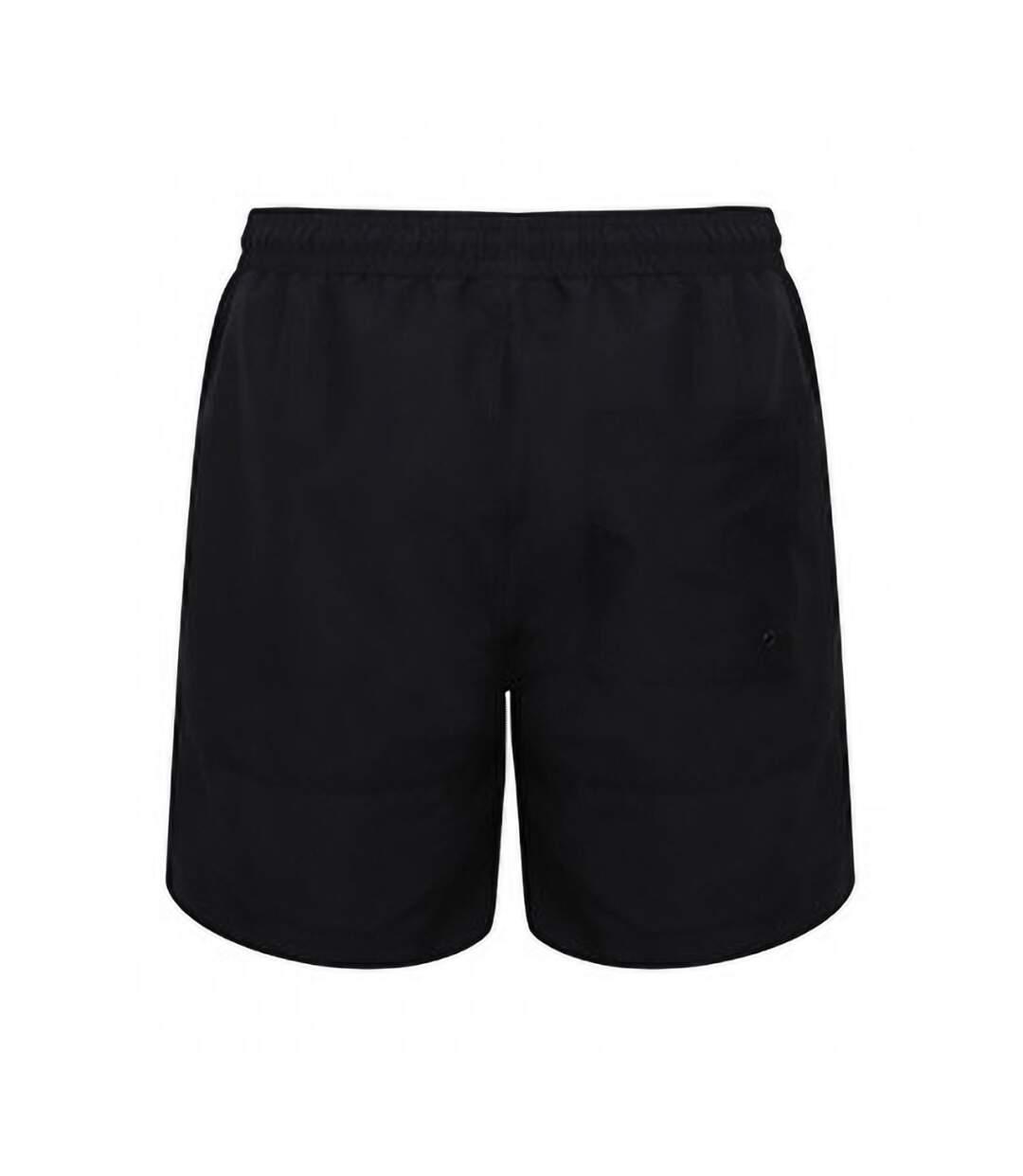 Front Row Mens Board Shorts (Black/Black) - UTPC3154
