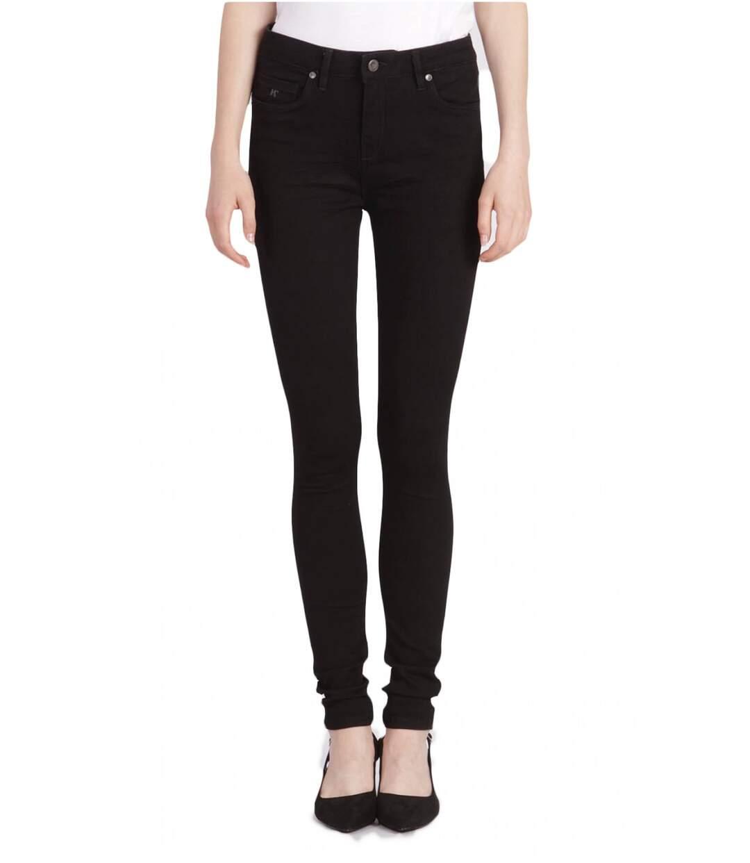 Jean noir taille haute  -  Kaporal - Femme