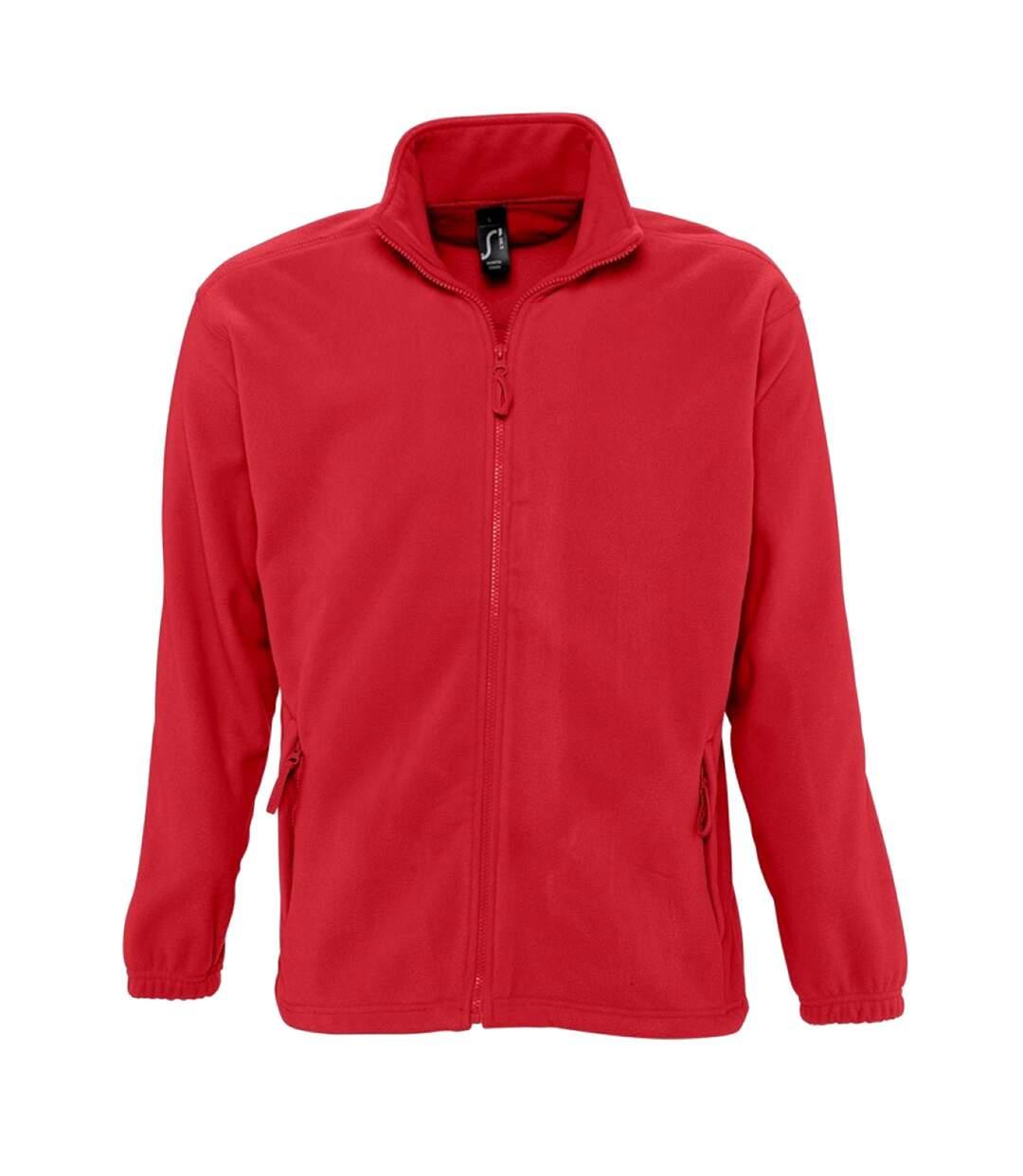 SOLS Mens North Full Zip Outdoor Fleece Jacket (Orange) - UTPC343