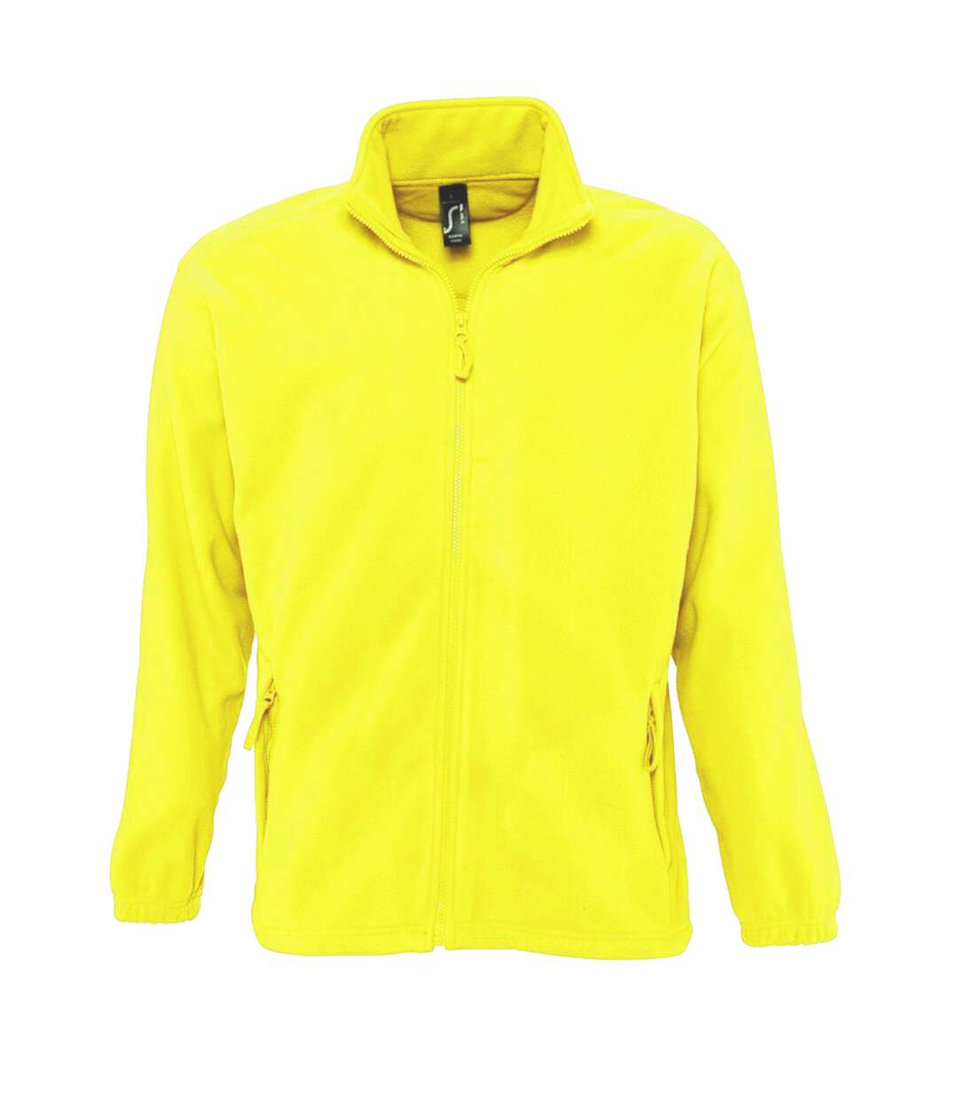 SOLS Mens North Full Zip Outdoor Fleece Jacket (Neon Yellow) - UTPC343