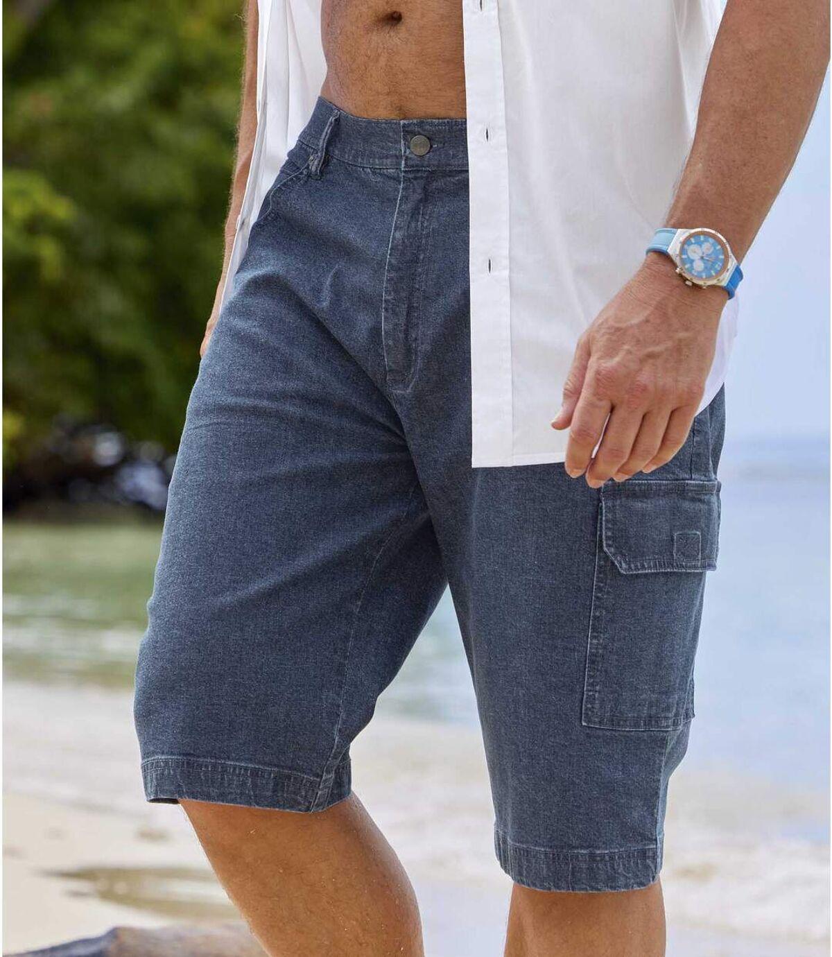 Zestaw 2 par jeansowych bermudów ze stretchem Atlas For Men