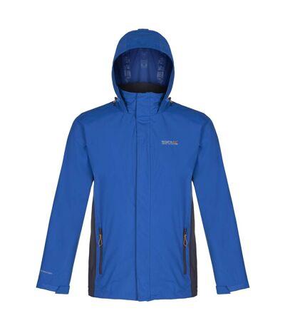 Regatta Great Outdoors Mens Outdoor Classic Matt Hooded Waterproof Jacket (Oxford Blue/Iron) - UTRG919