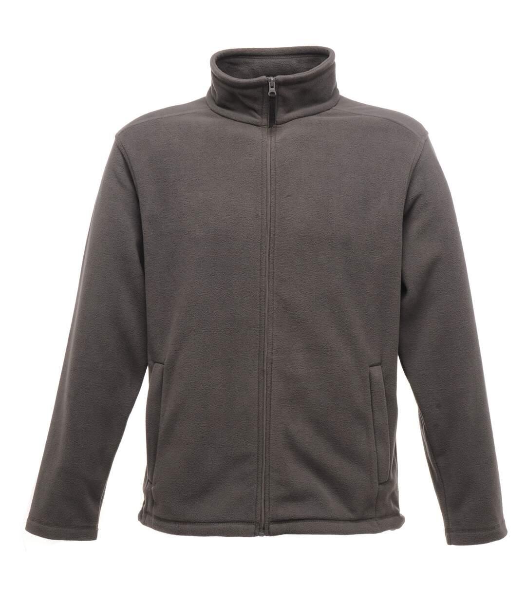 Regatta Mens Plain Micro Fleece Full Zip Jacket (Layer Lite) (Seal Grey) - UTBC2042