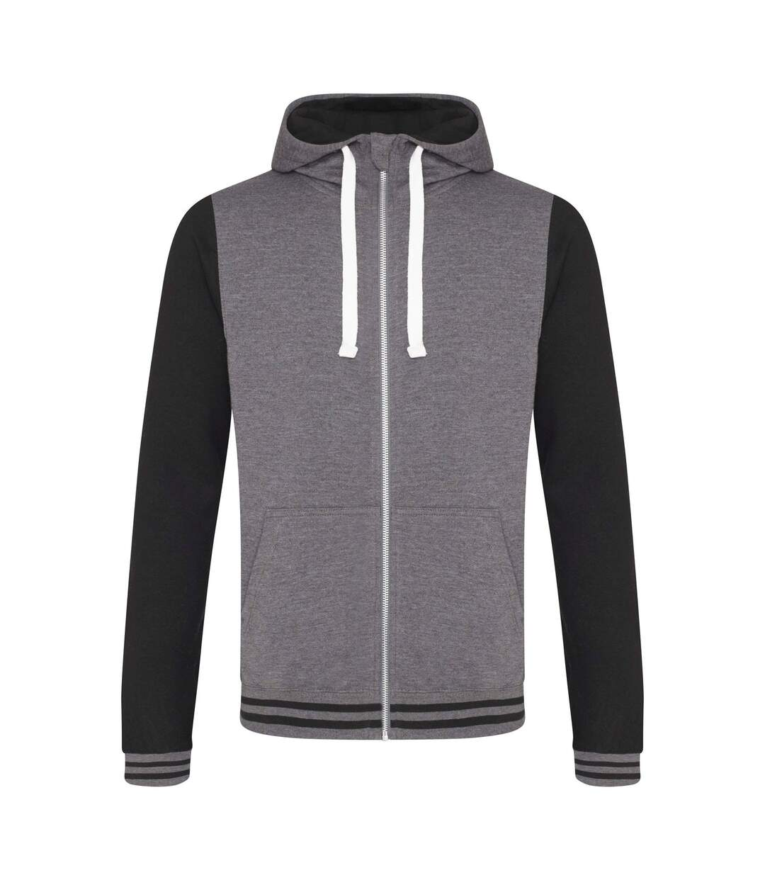 Sweat-shirt zippé à capuche - homme - JH051 - gris foncé