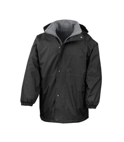 Result Mens Reversible StormDri 4,000 Waterproof Windproof Anti Pilling Fleece Jacket (Black/Grey) - UTBC884