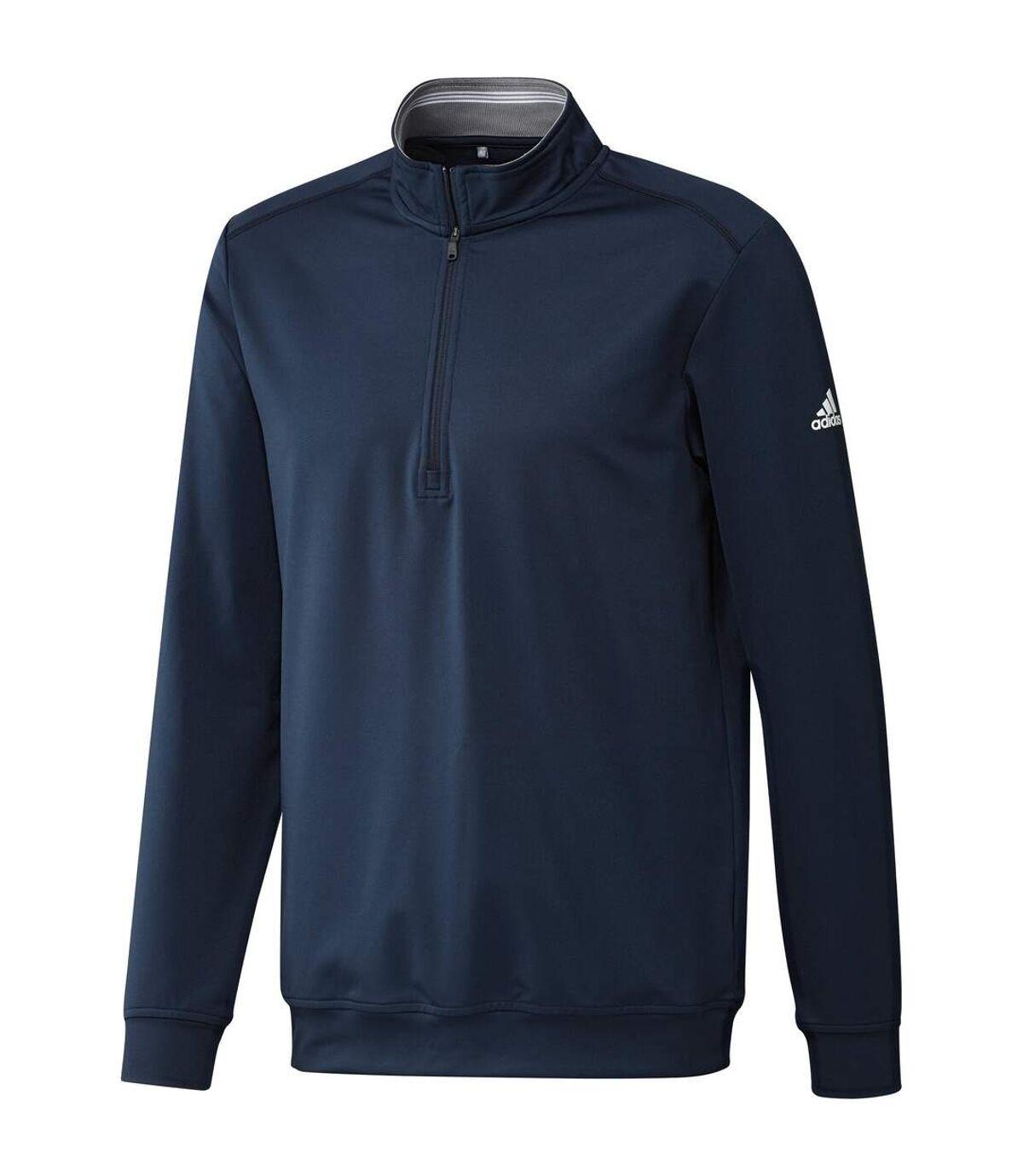 Adidas Mens Classic Club Zip Sweater (Navy) - UTRW7490