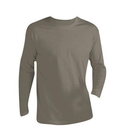 SOLS Mens Monarch Long Sleeve T-Shirt (Khaki) - UTPC313