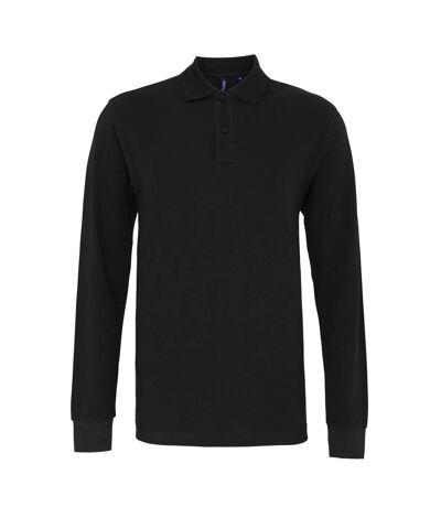 Asquith & Fox Mens Classic Fit Long Sleeved Polo Shirt (Black) - UTRW4811
