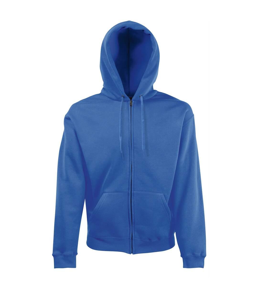 Fruit Of The Loom Mens Premium 70/30 Hooded Zip-Up Sweatshirt / Hoodie (Black) - UTRW3161