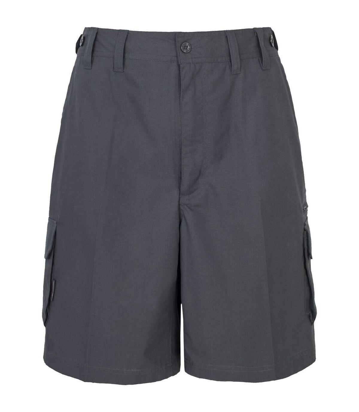 Trespass Mens Gally Water Repellent Hiking Cargo Shorts (Graphite) - UTTP230