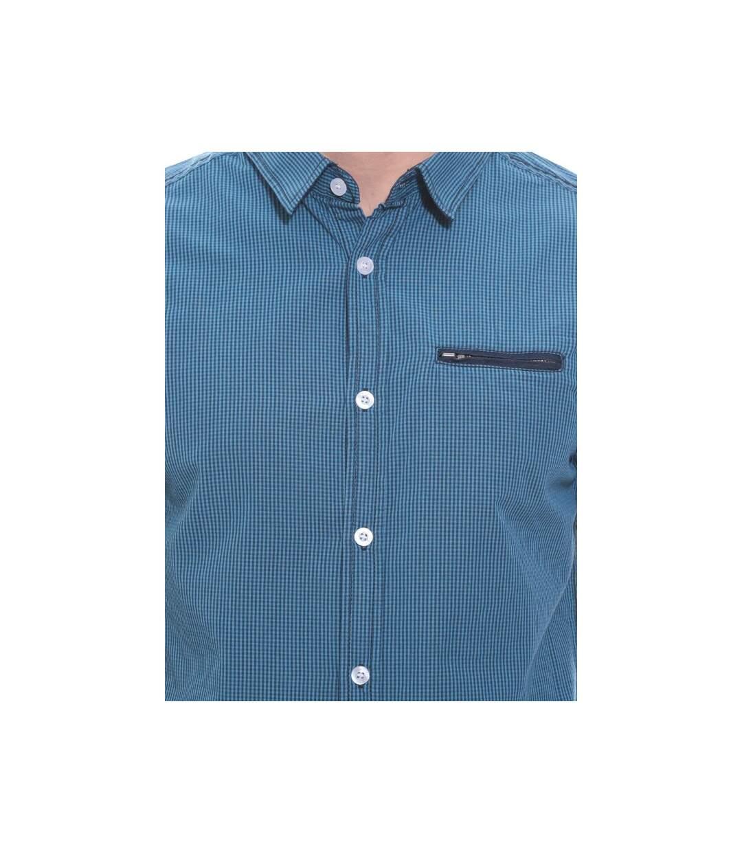 Chemise à petits carreaux en coton DATTE - RITCHIE