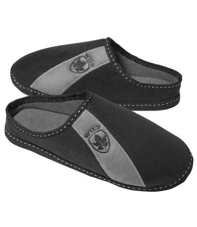 Men's Black Comfort Slippers