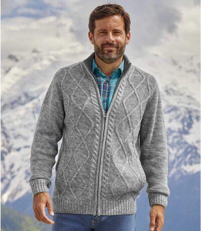 Authentiek wintervest van tricot