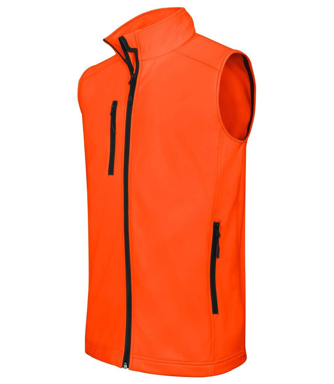 Bodywarmer softshell - gilet sans manches - K403 - orange fluo - Homme