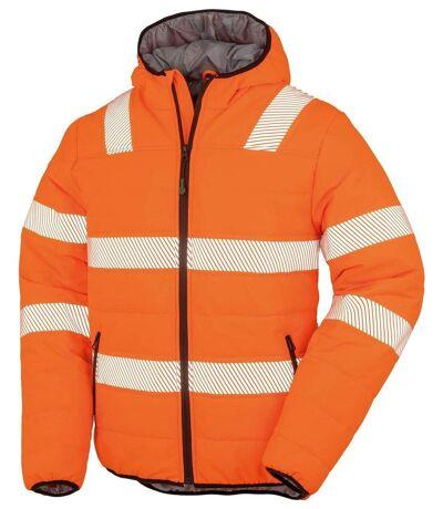 Veste matelassée - sécurité ECORESPONSABLE - R500X - orange fluo
