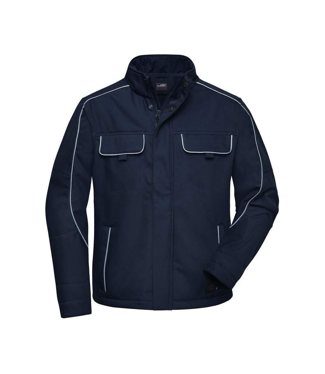 Veste blouson de travail légère softshell mixte - JN884 - bleu marine