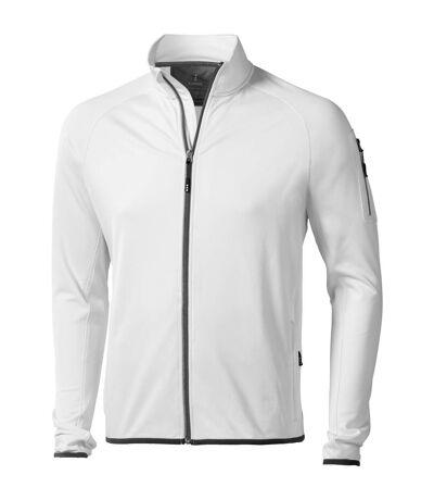 Elevate Mens Mani Power Fleece Full Zip Jacket (White) - UTPF1942