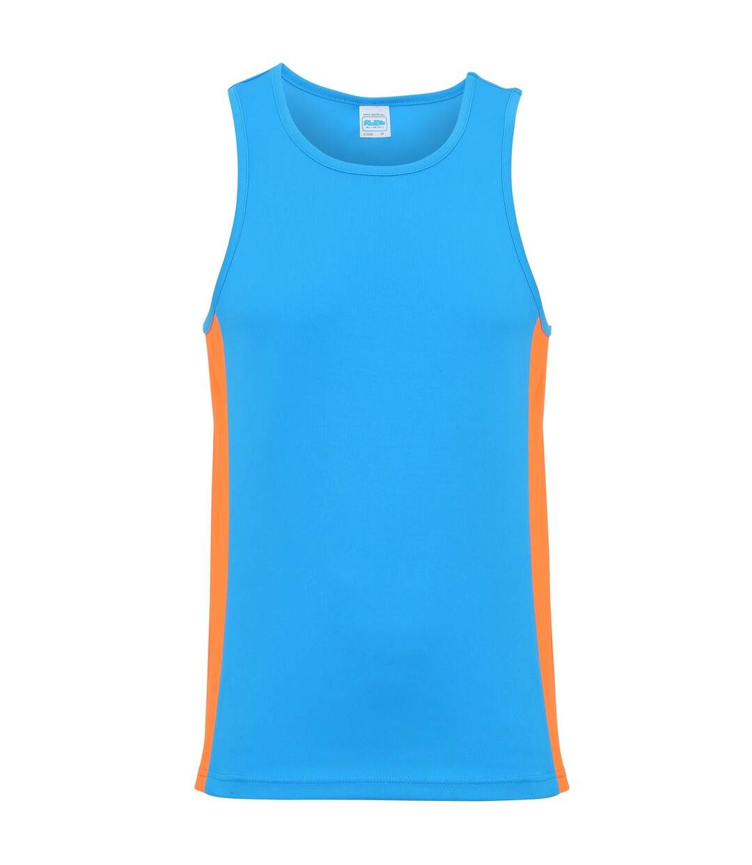 AWDis Just Cool Mens Contrast Panel Sports Vest Top (Charcoal/Lime Green) - UTRW3476