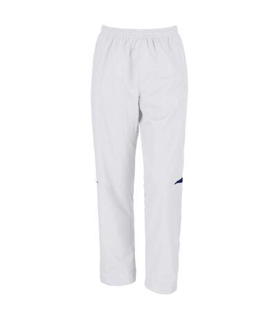 Spiro Mens Micro-Lite Performance Sports Pants / Tracksuit Bottoms (White/Navy) - UTRW1473