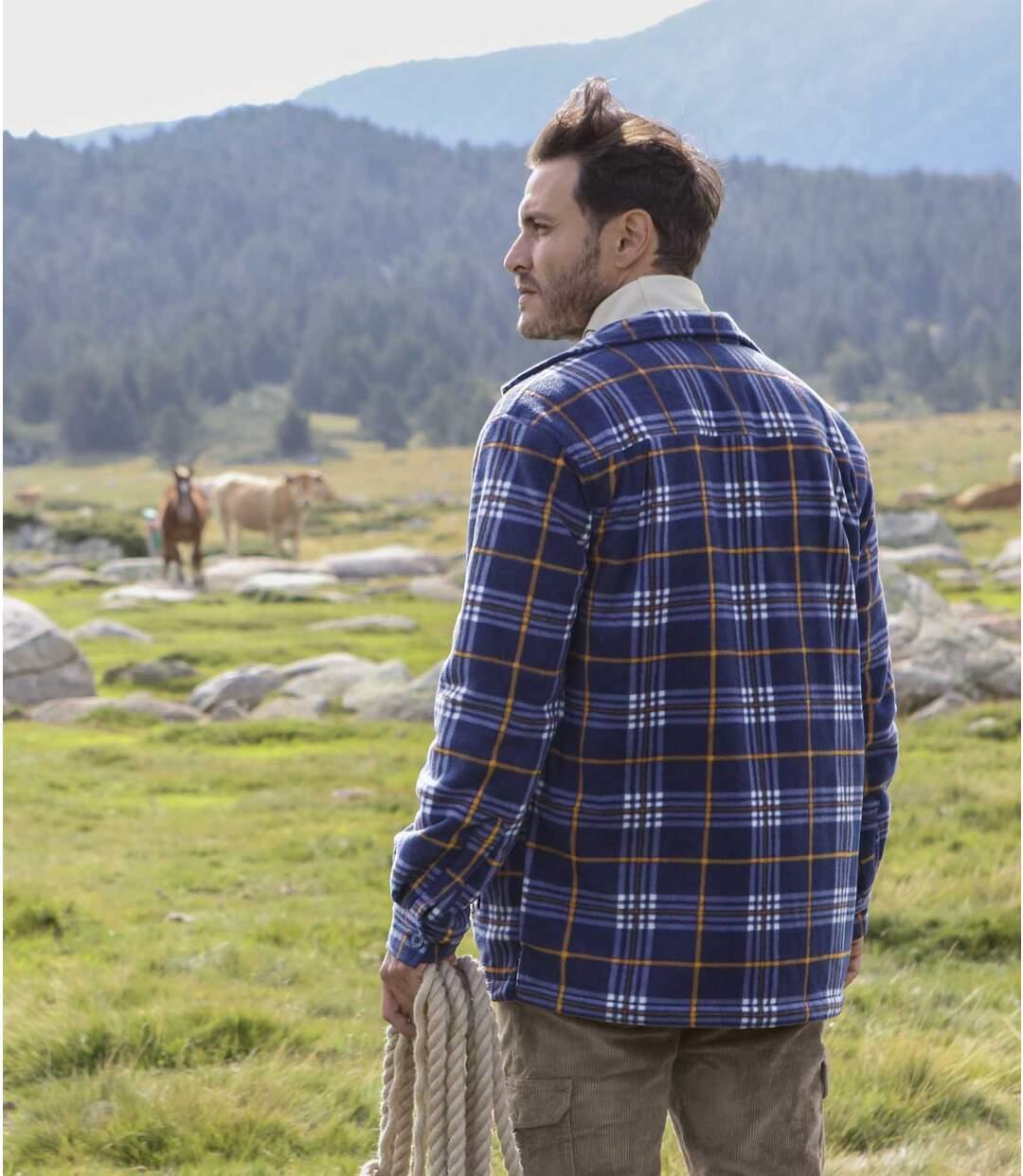 Wierzchnia polarowa koszula z podszewką z kożuszka sherpa