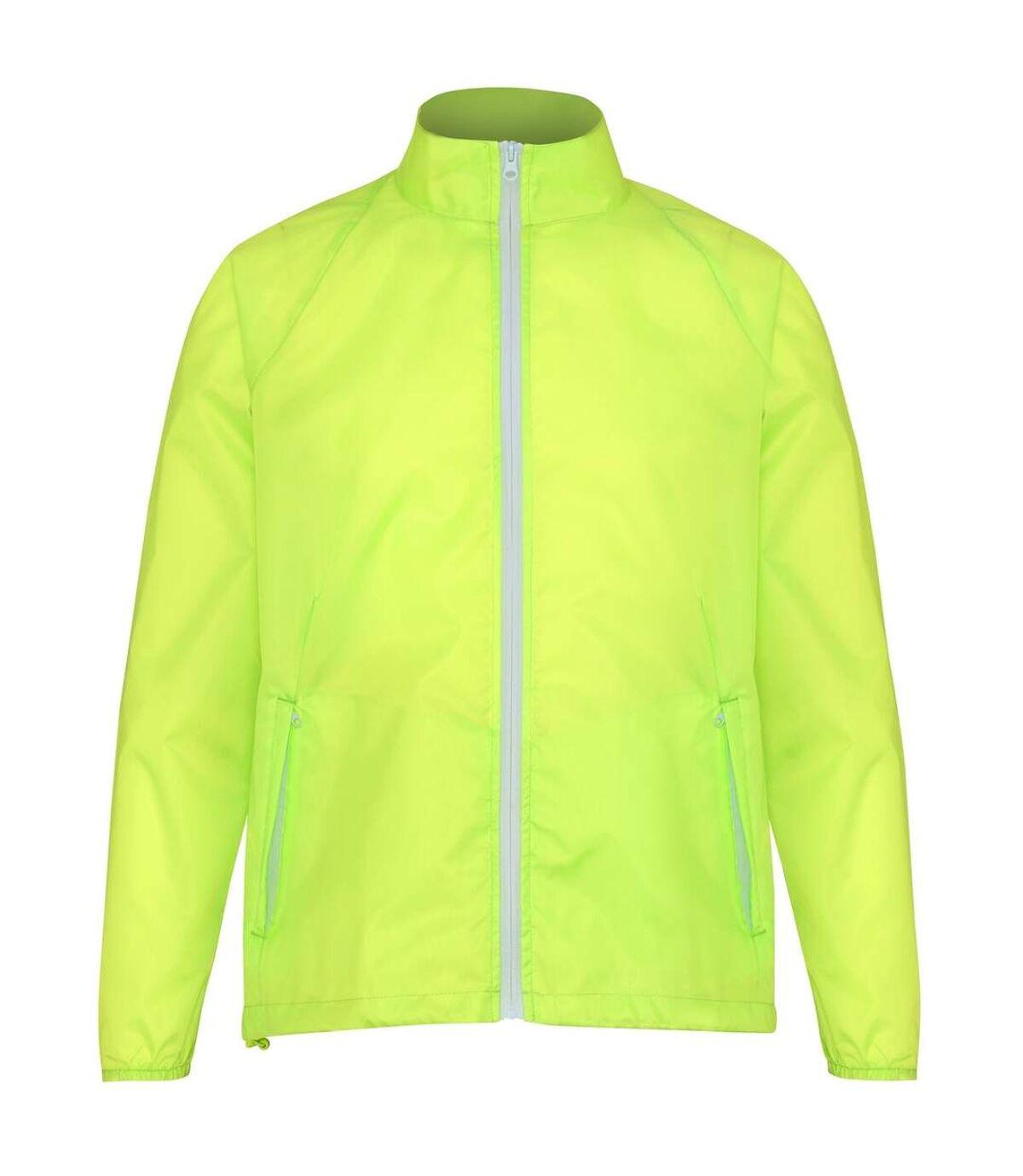 2786 Mens Contrast Lightweight Windcheater Shower Proof Jacket (Charcoal/ Black) - UTRW2501