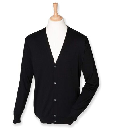 Gilet boutonné cardigan - HOMME - H722 - noir