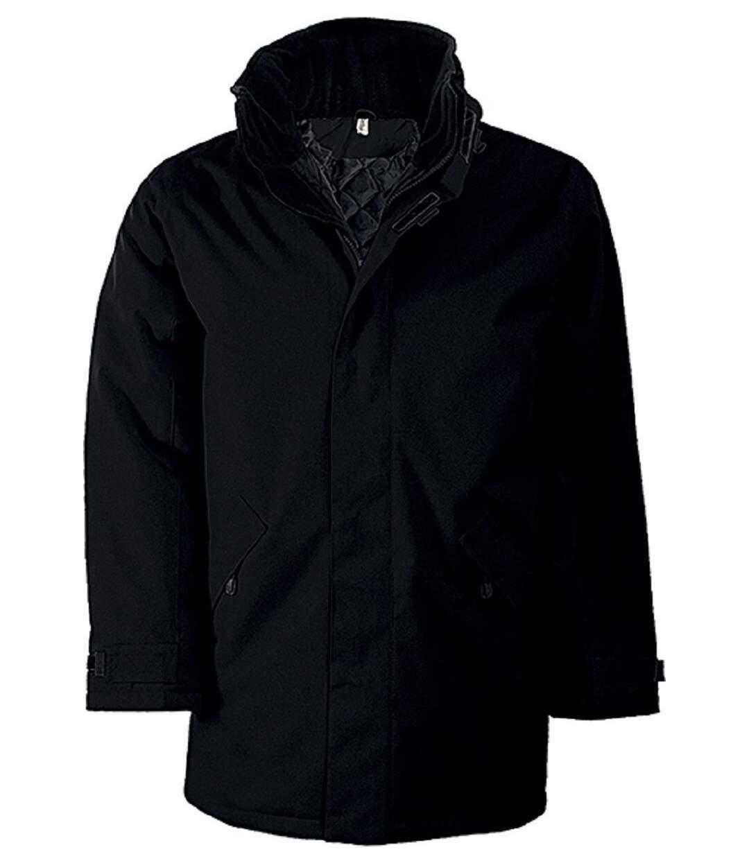 Parka Homme doublure matelassée - K677 - noir