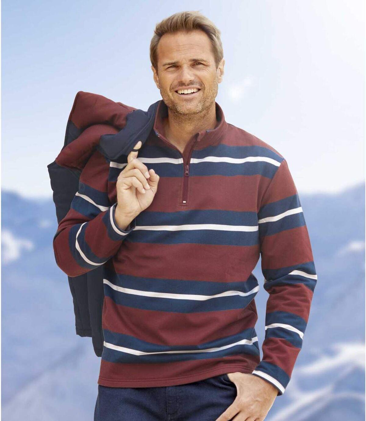 Gestreiftes Molton-Sweatshirt Atlas For Men