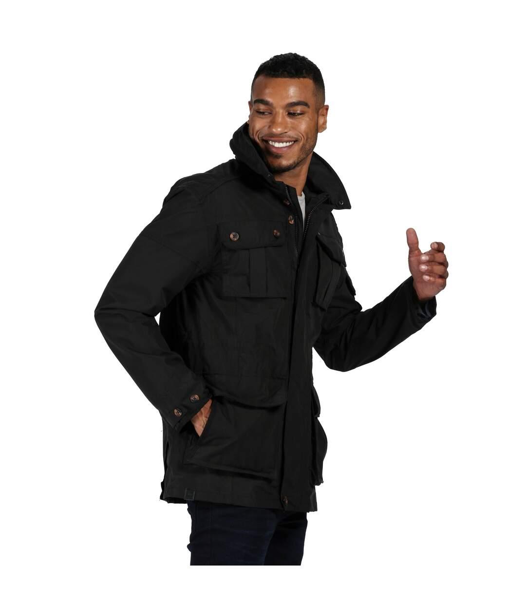 Regatta Mens Elmore Waterproof Cargo Jacket (Black) - UTRG4895