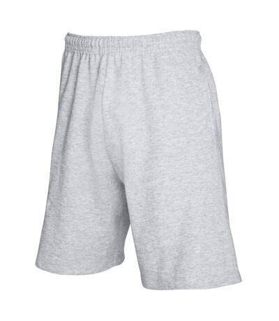Fruit Of The Loom Mens Lightweight Casual Fleece Shorts (240 GSM) (Heather Grey) - UTBC2660