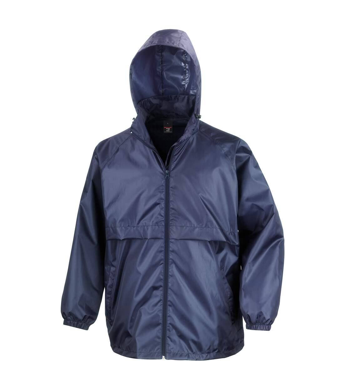 Result Mens Core Lightweight Waterproof Shield Windproof Jacket (Navy Blue) - UTBC898