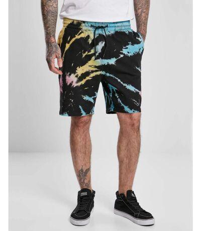Short jogging Noir tie and Dye multi couleur homme
