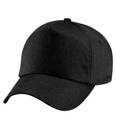 Beechfield Plain Unisex Junior Original 5 Panel Baseball Cap (Black) - UTPC2109