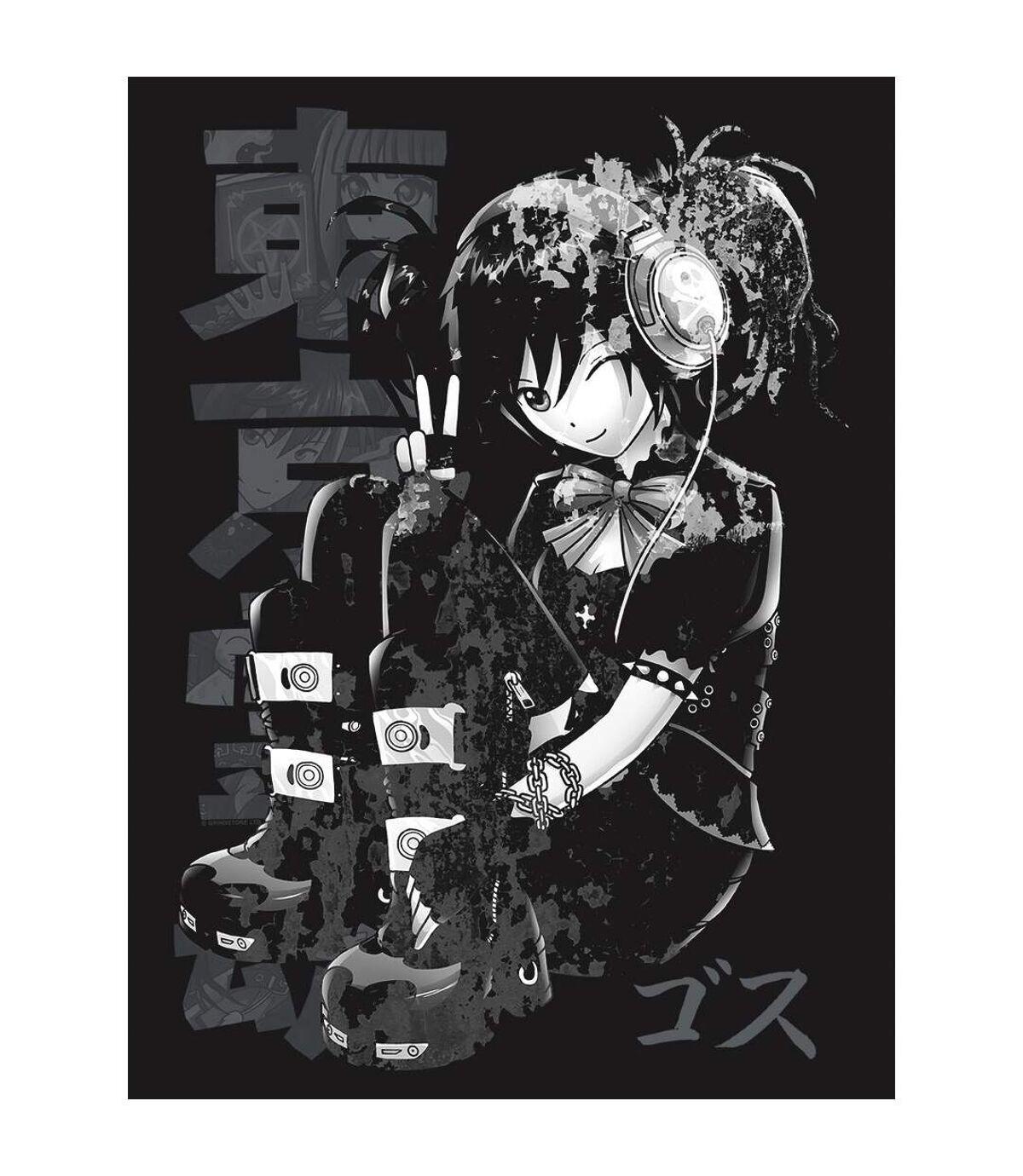 Tokyo Spirit Mens Gosu Monochrome T-Shirt (Black) - UTGR4119