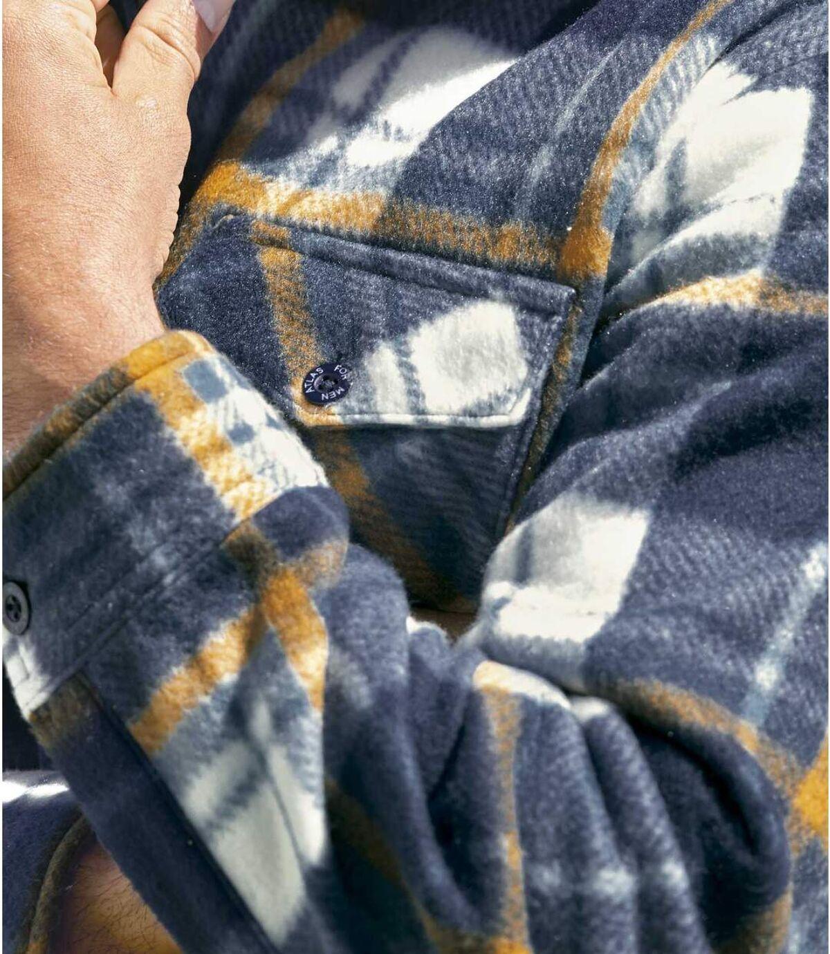 Утепленная Флисовая Рубашка в Клетку Atlas For Men