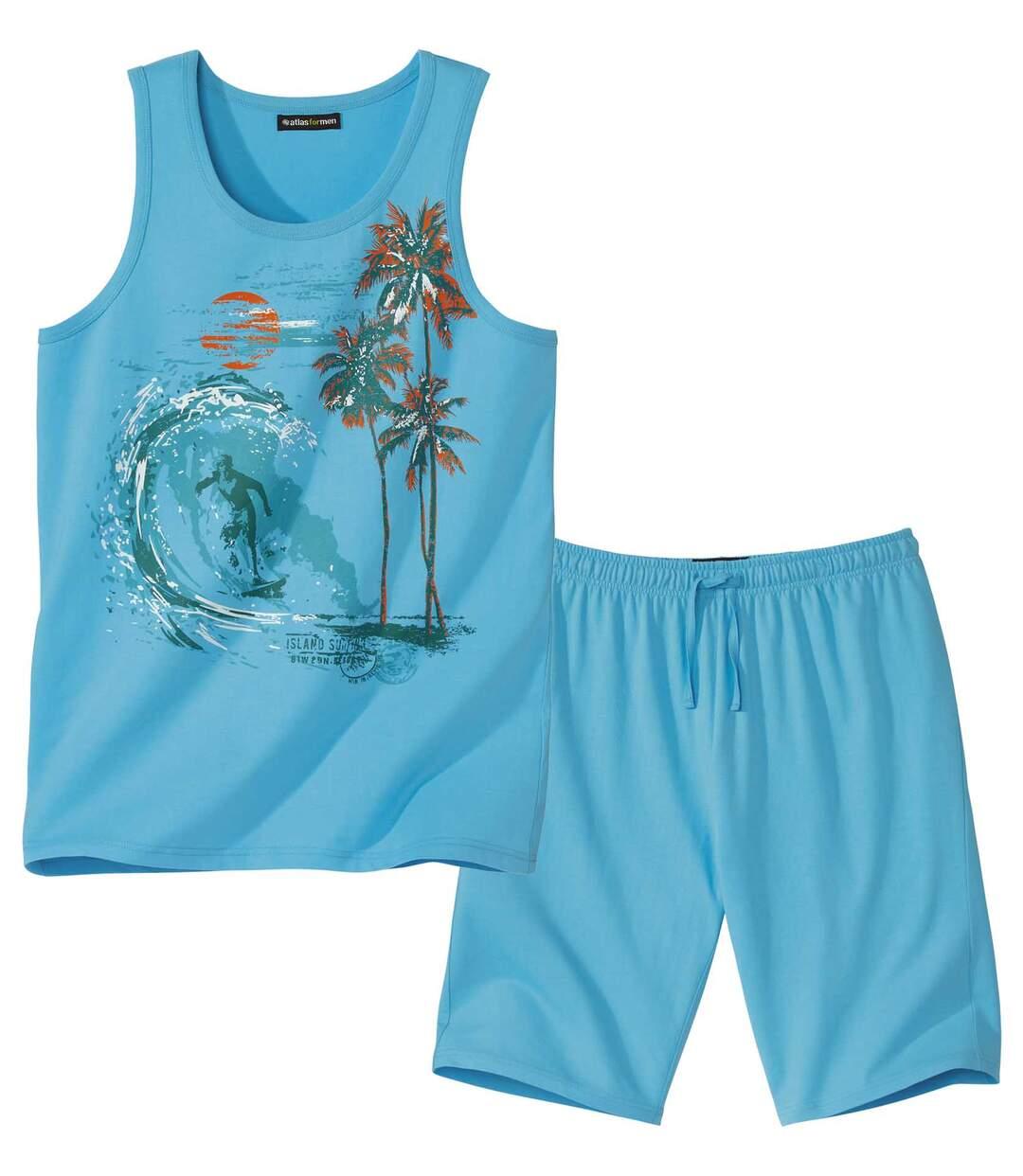 Piżama z szortami i podkoszulkiem Island Surfing