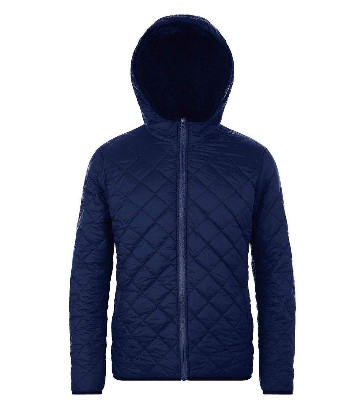 Parka à capuche doublée sherpa - 01615 - bleu - unisexe