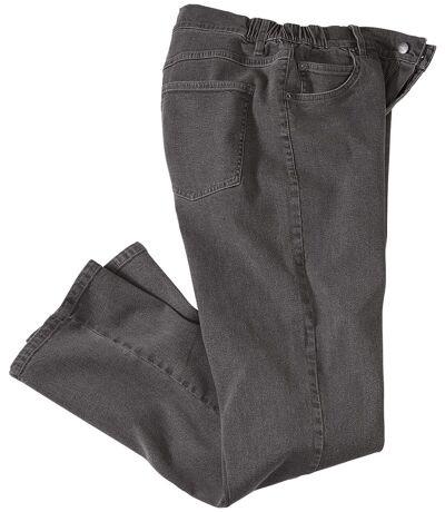 Grijze regular stretch jeans