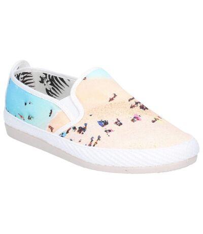 Flossy Womens/Ladies Pastel Slip On Shoe (Ecru) - UTFS6253