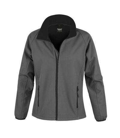 Result Womens/Ladies Core Printable Softshell Jacket (Black / Black) - UTRW3696
