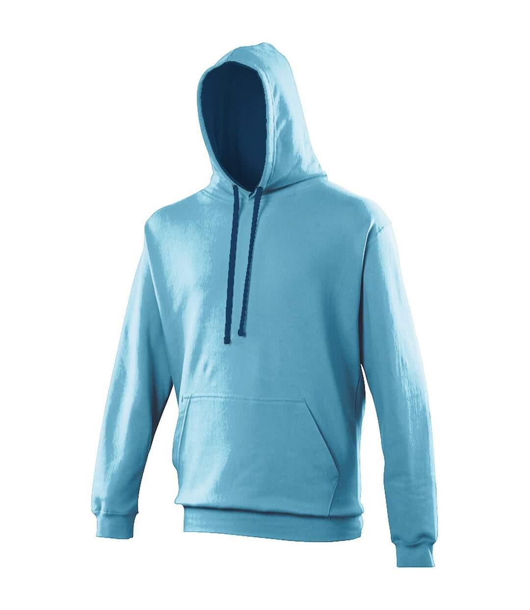 Awdis Varsity Hooded Sweatshirt / Hoodie (Fire Red / Jet Black) - UTRW165